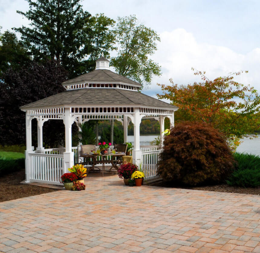 Lakeside Gazebo Design Ideas 15