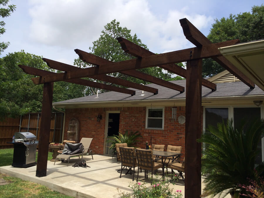 Pergola Attached To House 9