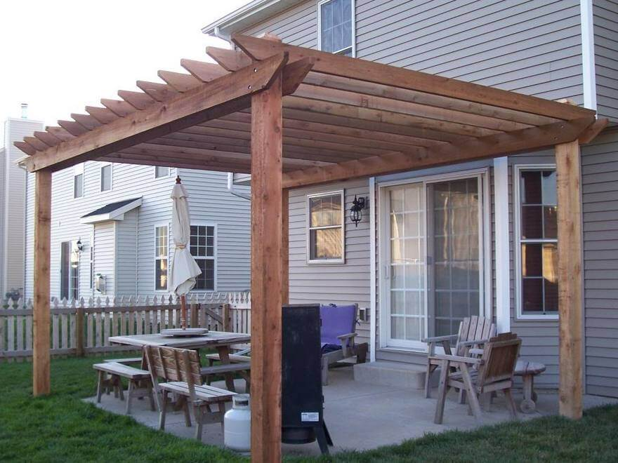 Simple pergola pergola plans pergoladiy how to build a for Simple cost effective house plans
