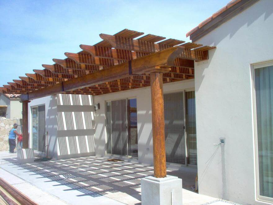 Simple Pergola Attached to House 6