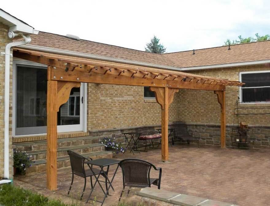 Simple Pergola Attached to House 9