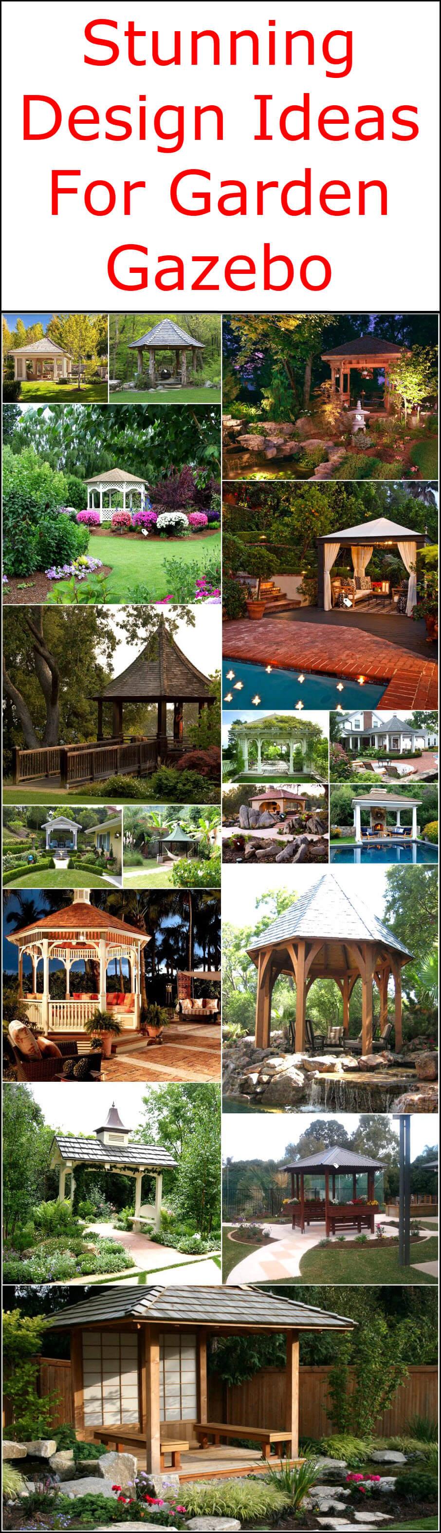 Stunning Design Ideas For Garden Gazebo
