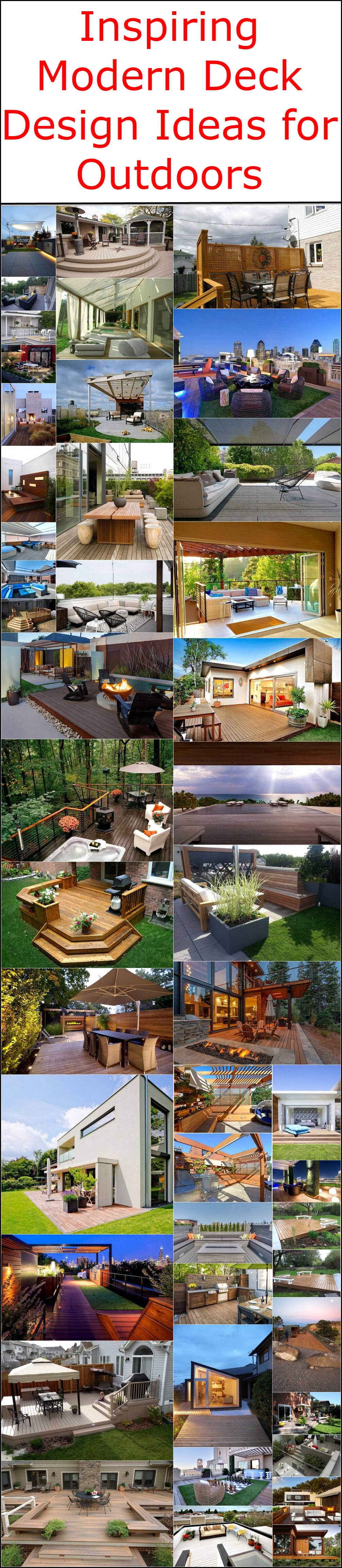 Inspiring Modern Deck Design Ideas for Outdoors