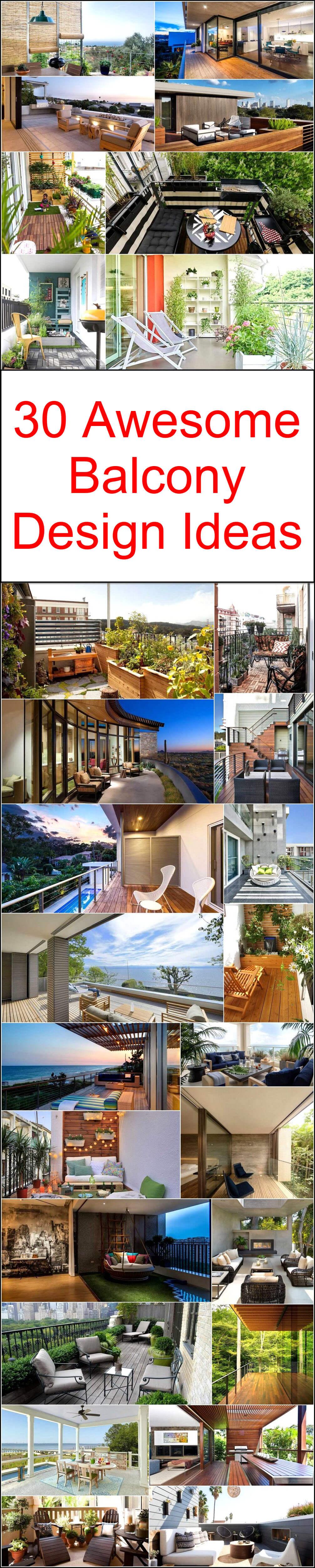 30 Awesome Balcony Design Ideas