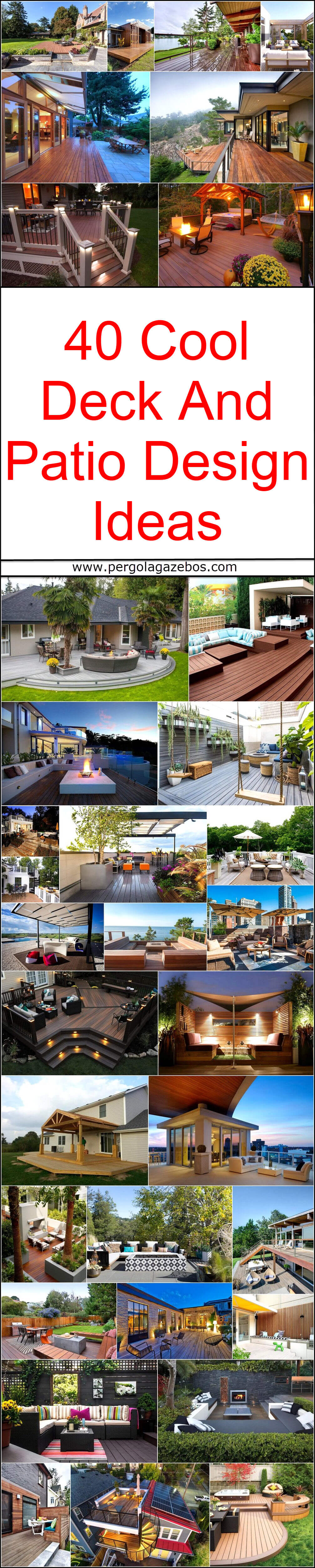 40 Cool Deck And Patio Design Ideas