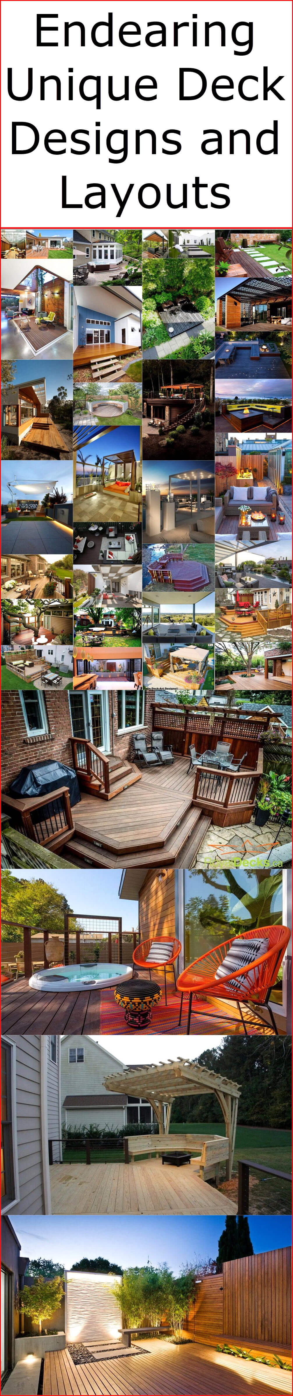 Endearing Unique Deck Designs and Layouts