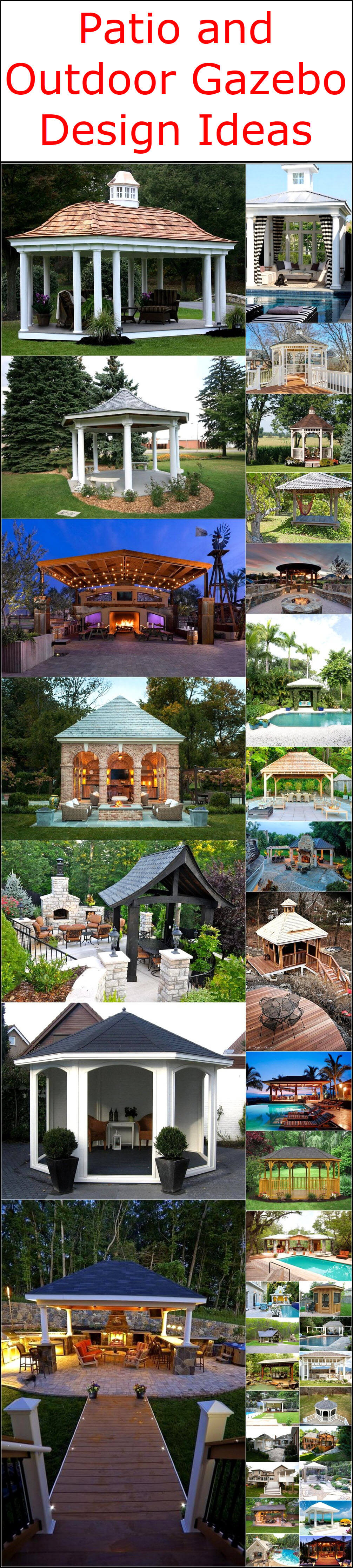 Patio and Outdoor Gazebo Design Ideas