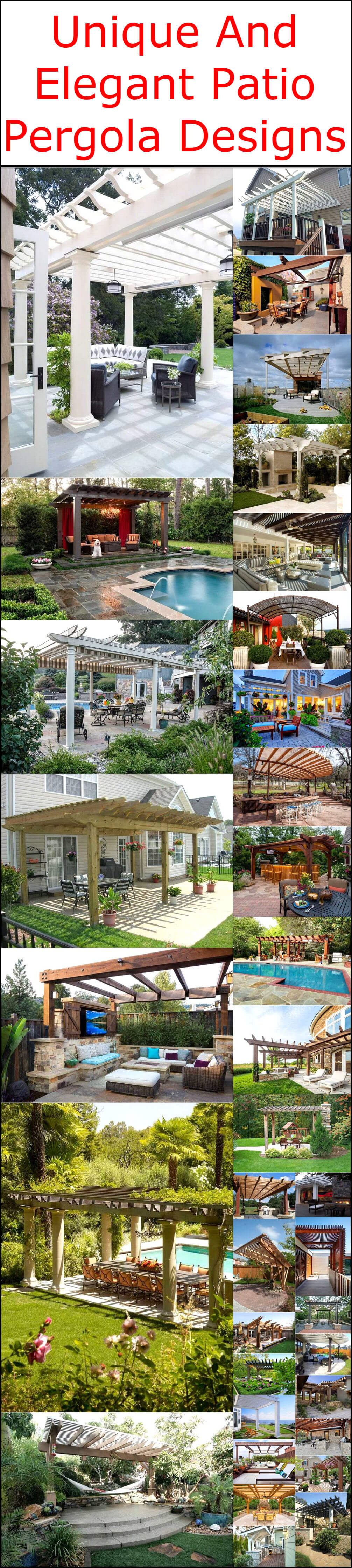 Unique And Elegant Patio Pergola Designs