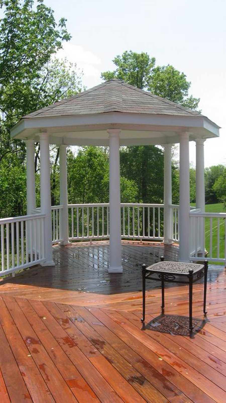 Charming design ideas for gazebo decks pergola gazebos for Deck with gazebo