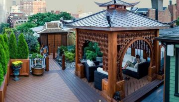 Charming Design Ideas for Gazebo Decks
