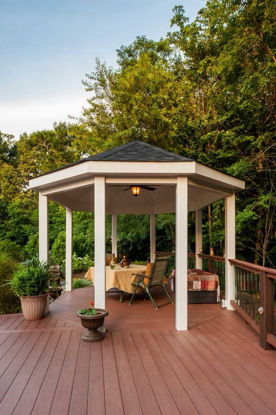 Charming design ideas for gazebo decks pergola gazebos for Decks and gazebos