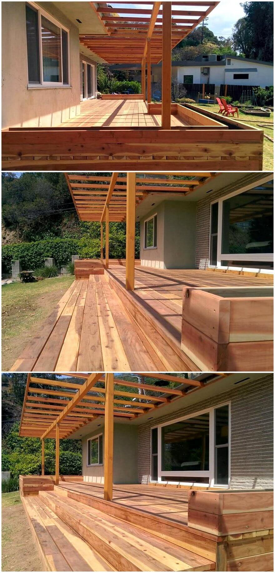 patio pergola deck designs 0