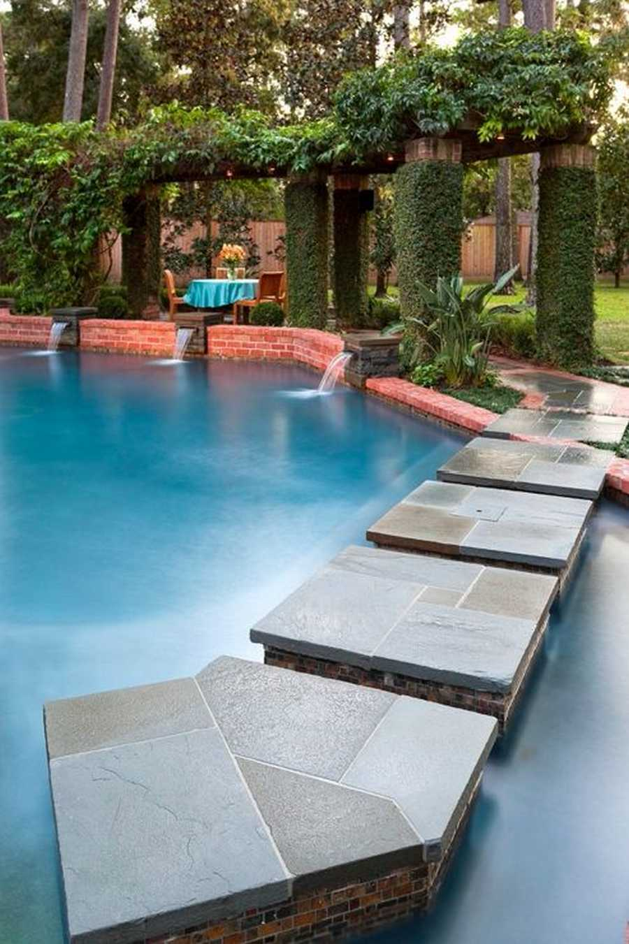 Stunning design ideas for pool pergolas pergola gazebos for Pool design 2018