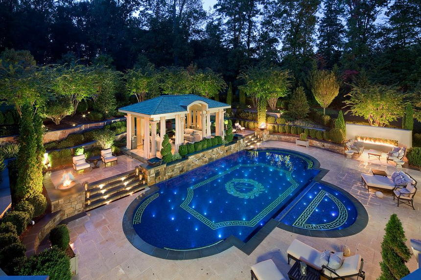 luxury swimming pool designs 0