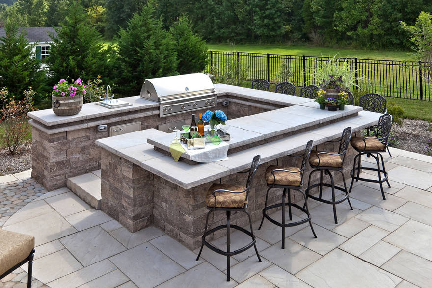 outdoor kitchen plans 14