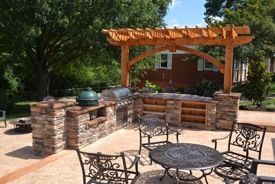outdoor kitchen plans 17