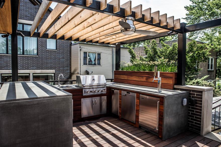 outdoor kitchen plans 38