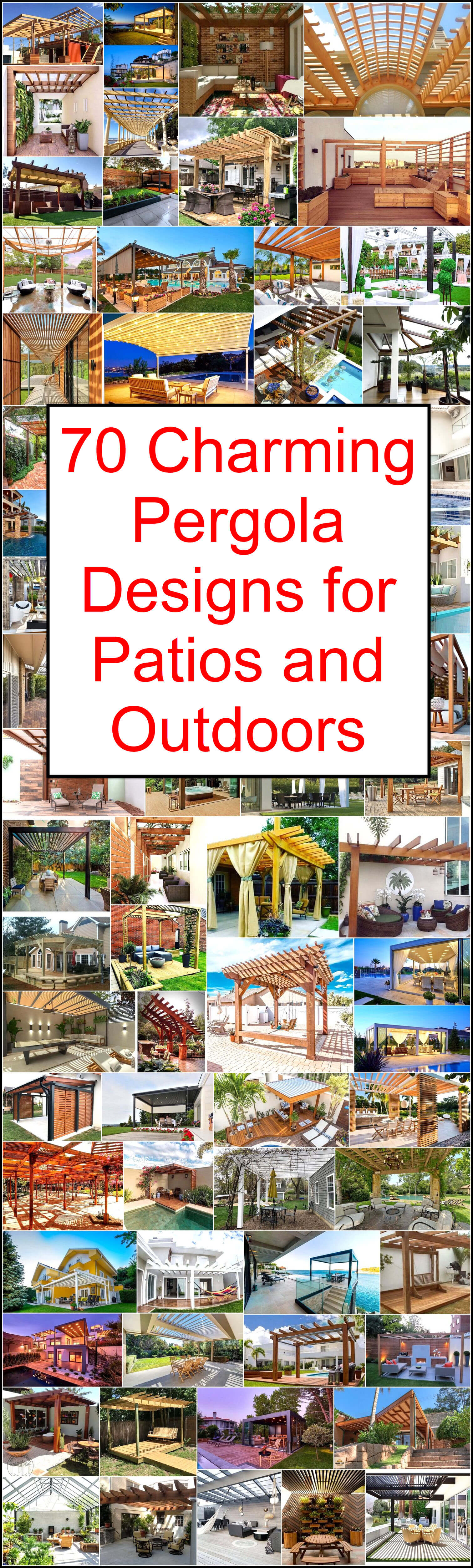 Charming Pergola Designs for Patios and Outdoors