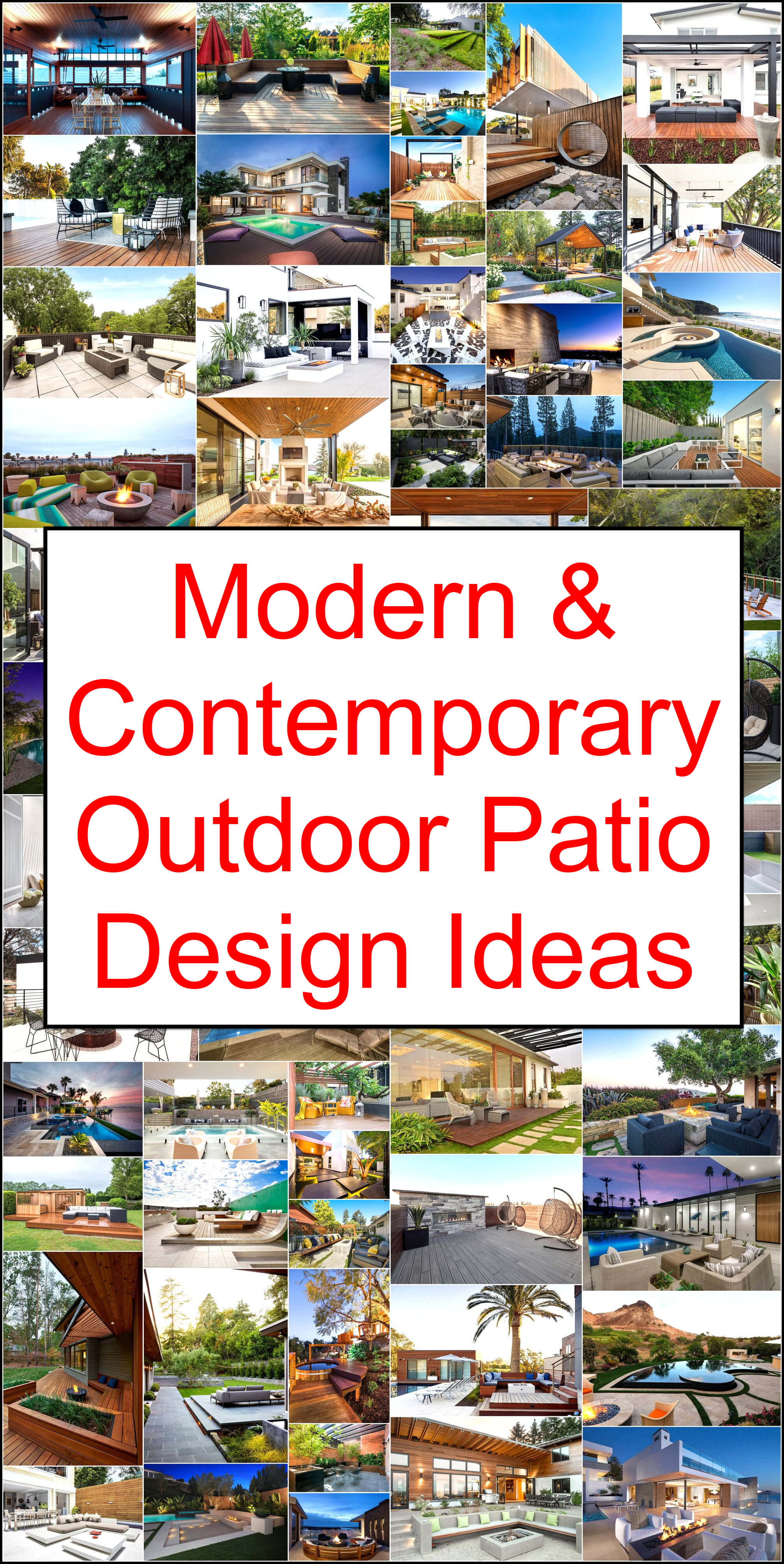 Modern Contemporary Outdoor Patio Design Ideas Pergola Gazebos