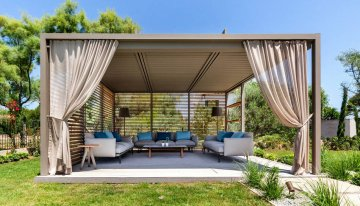 All Season Outdoor Living Ideas Under Gazebo